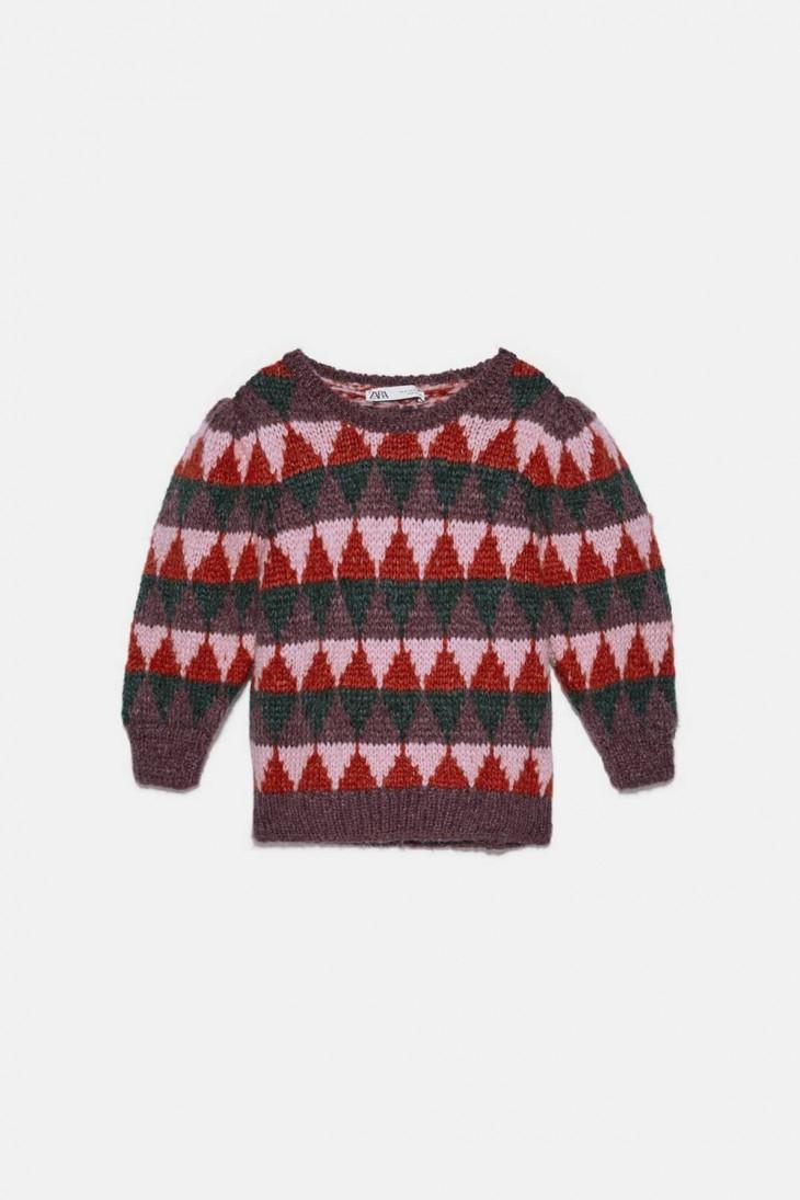 свитер с объемными рукавами