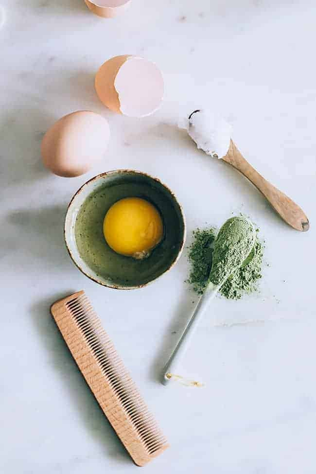 Маска для волос с зеленым чаем