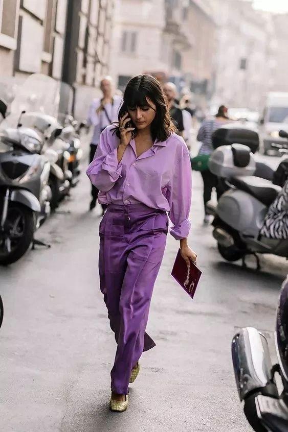 Как носить фиолетовый