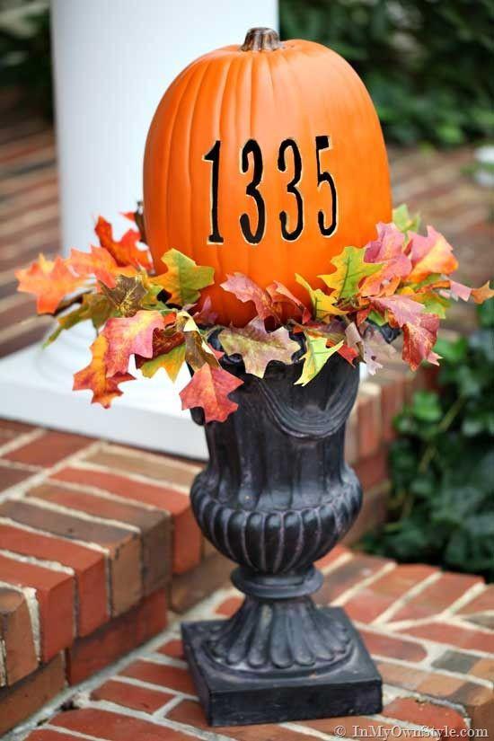 необычная тыква на хэллоуин
