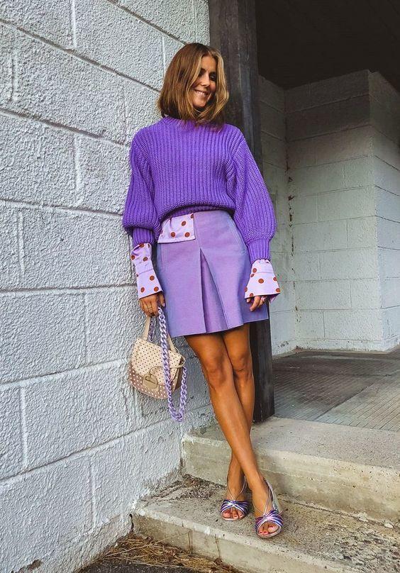 Фиолетовый цвет в гардеробе
