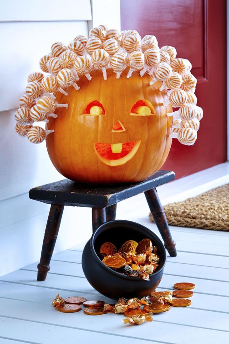 интересная тыква на хэллоуин