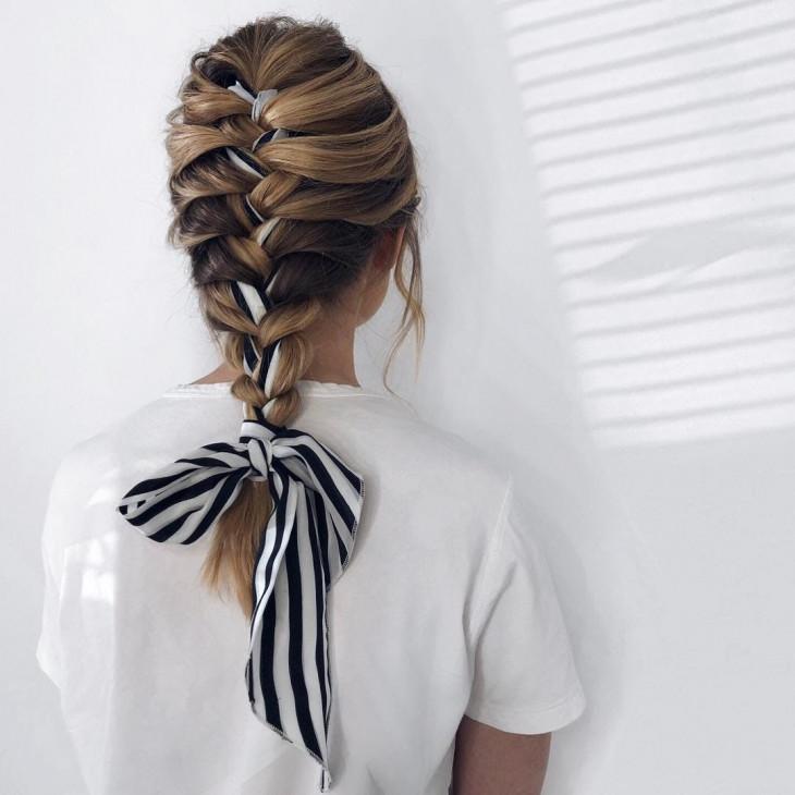 шарф в косе