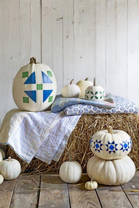 стильный декор тыквы на Хэллоуин