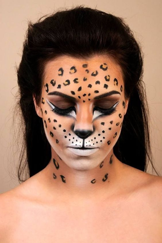 Несложный макияж на Хэллоуин