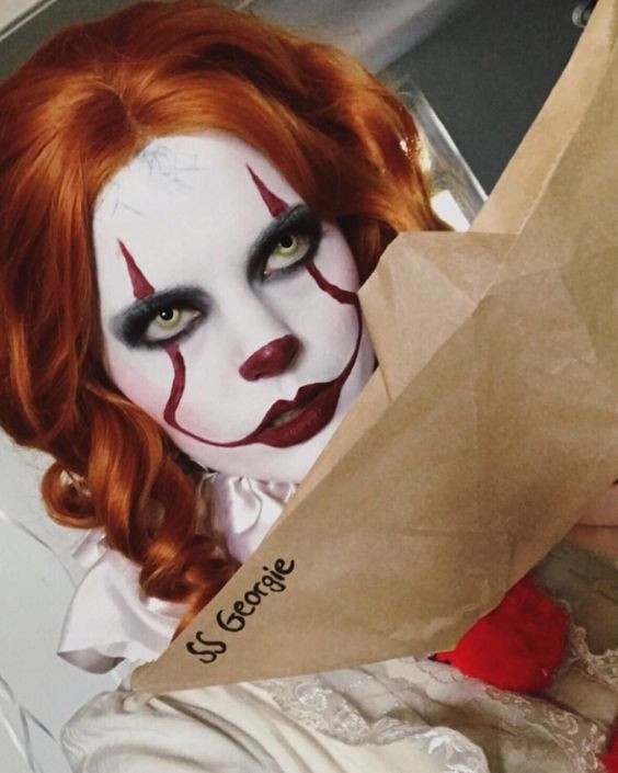 Макияж на Хэллоуин клоун Пеннивайз