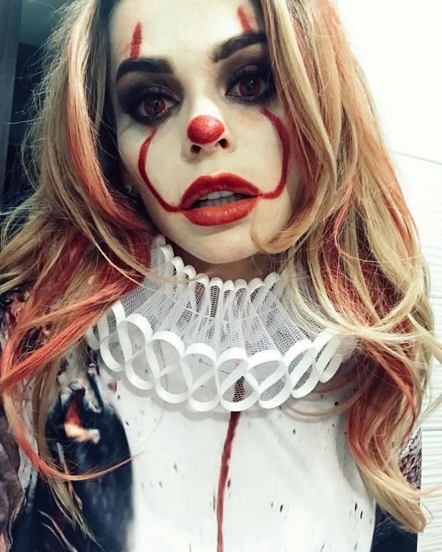 Анна Хилькевич макияж на Хэллоуин
