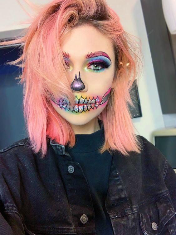 Макияж на Хэллоуин для девушки