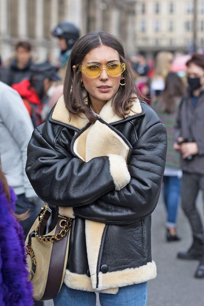 Кожаные женские куртки на зиму