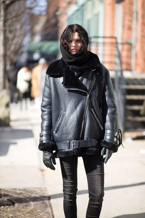 Кожаные зимние куртки 2020