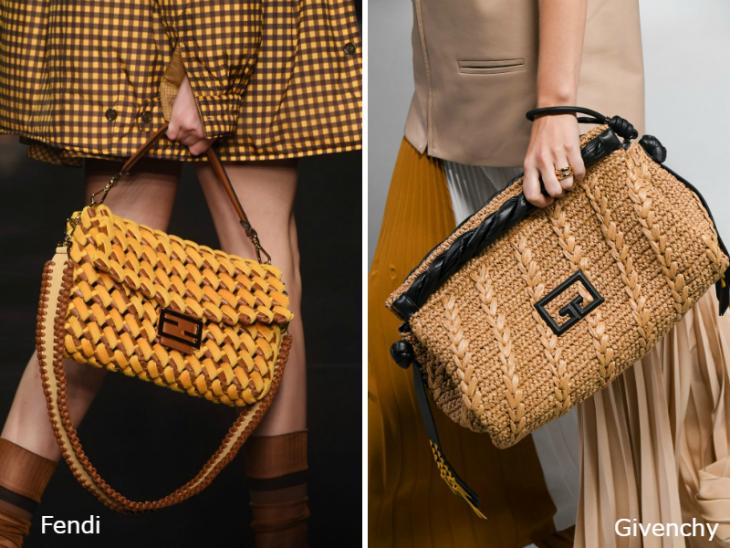 Модные плетеные сумки весна 2020