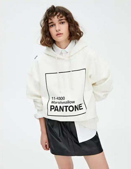 Худи Pantone Marshmallow Pull & Bear