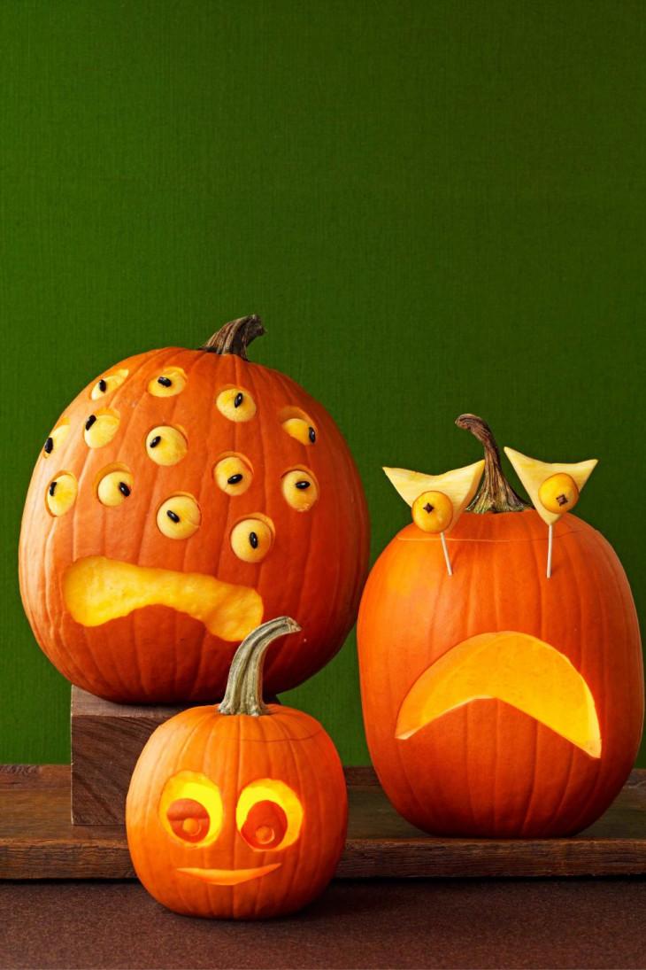 оригинальные тыквы на хэллоуин