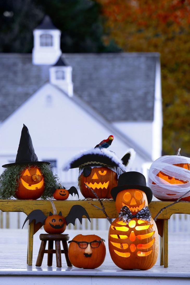 декор тыквы на хэллоуин для улицы