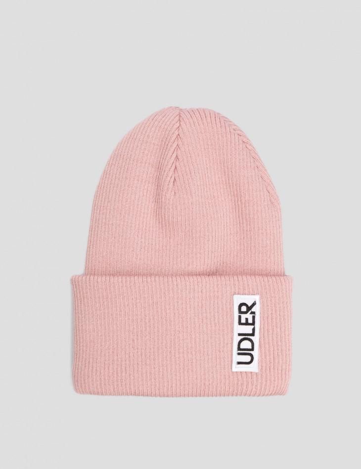 Розовая шапка Zhanna UDLER