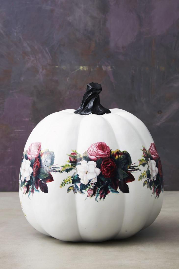 красивый декор тыквы на хэллоуин