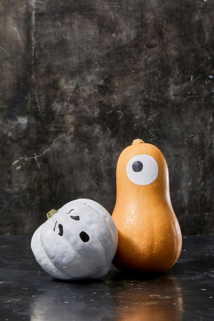 креативный декор тыквы на хэллоуин