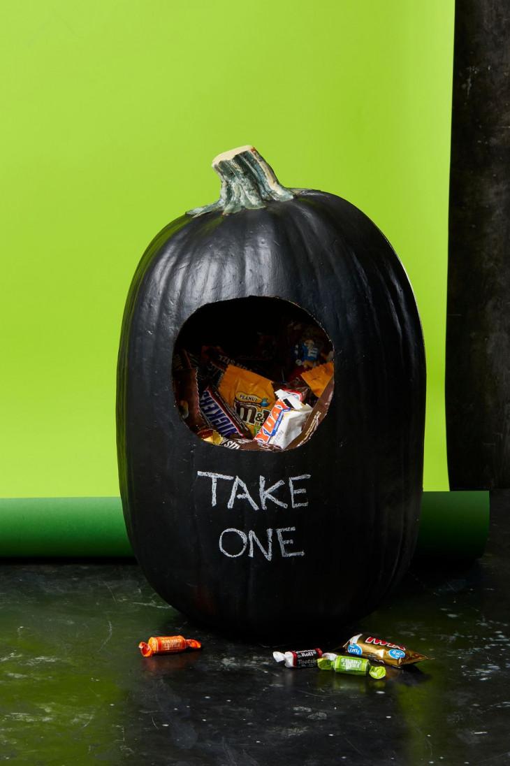 оригинальный декор тыквы на хэллоуин
