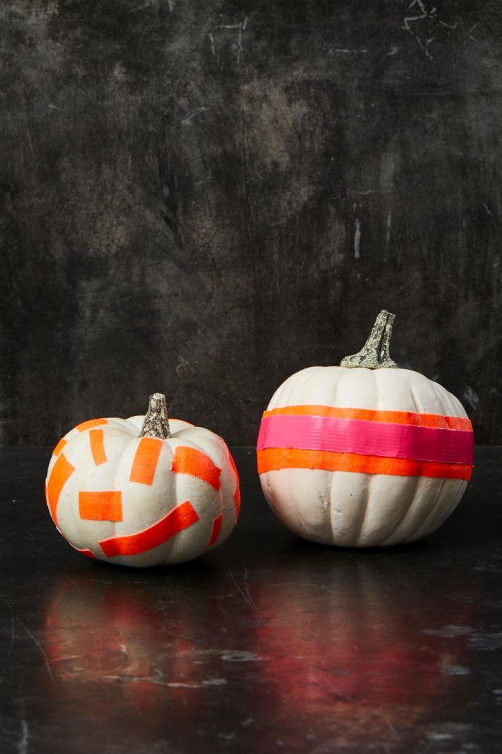 тыква на хэллоуин с лентами
