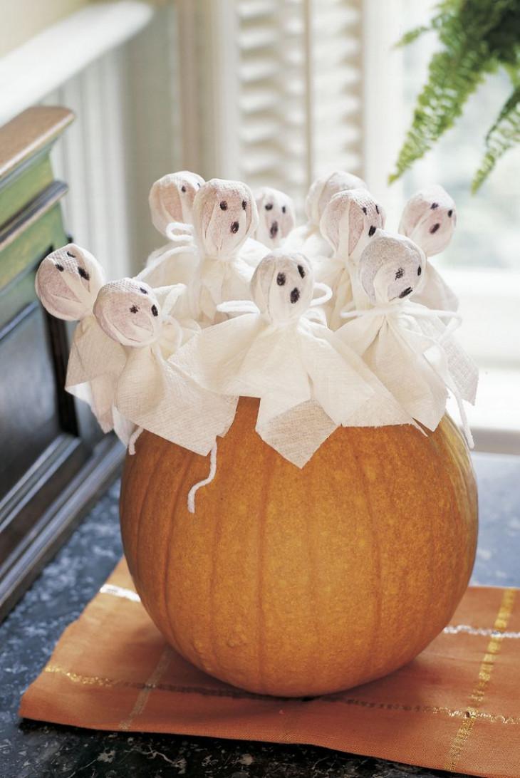 хэллоуин тыква с приведениями