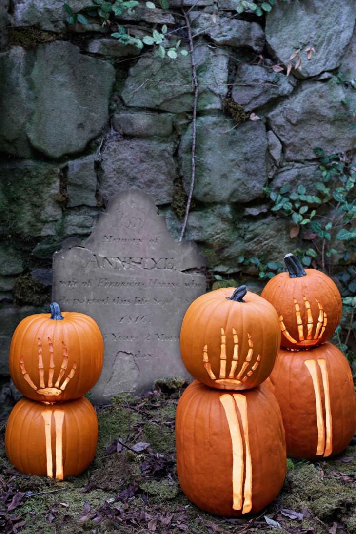 хэллоуин тыква с резьбой