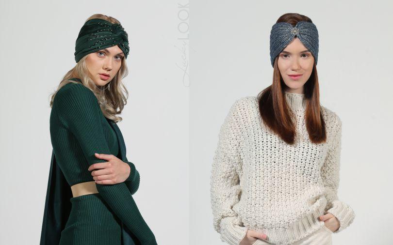 теплая повязка - модный головный убор
