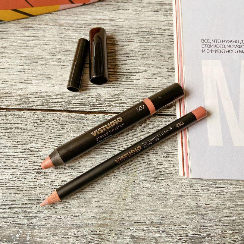 Помада и карандаш для губ от ViSTUDIO